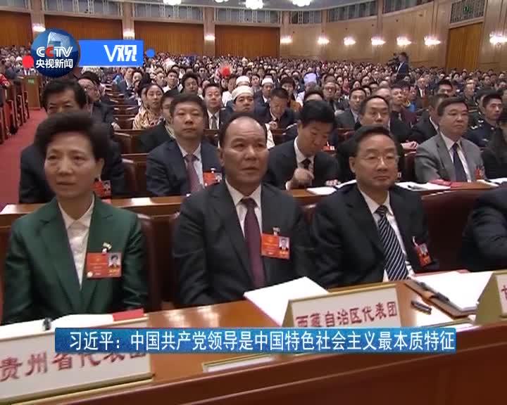 [视频]习近平:中国共产党领导是中国特色社会主义最本质特征