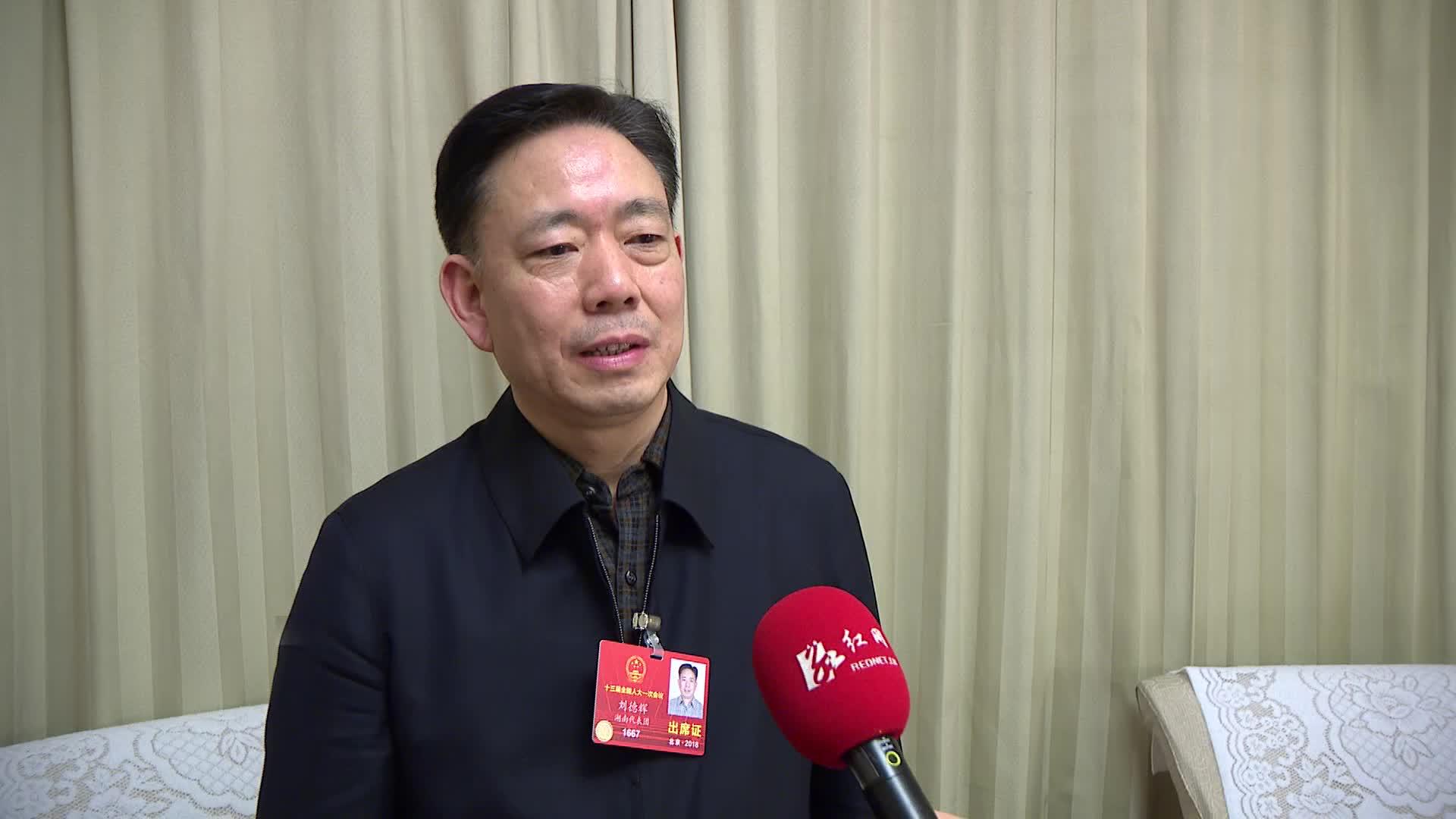 全国人大代表刘德辉:企业应该更好地成为人才施展自身的舞台