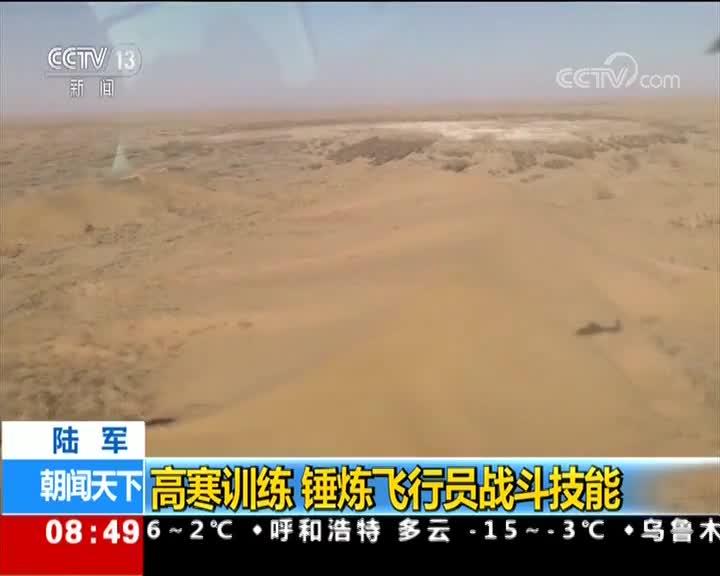[视频]陆军:高寒训练 锤炼飞行员战斗技能