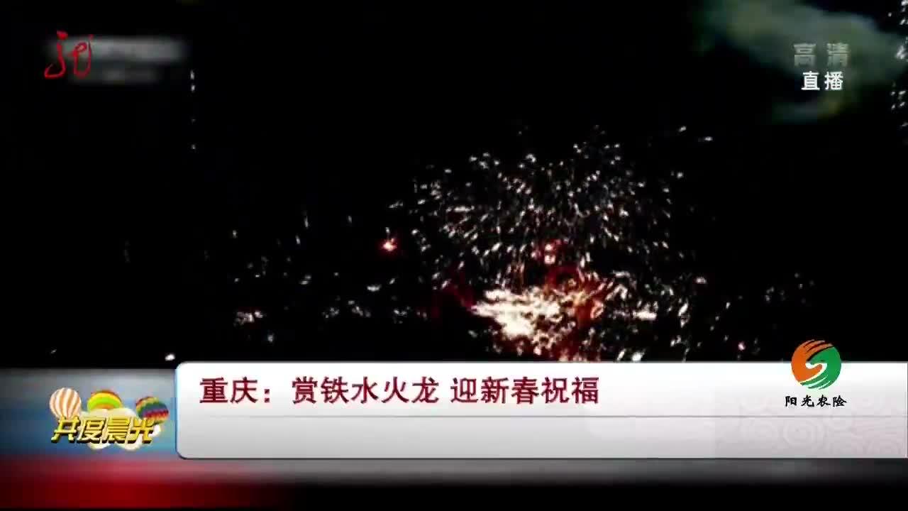 [视频]重庆:赏铁水火龙 迎新春祝福