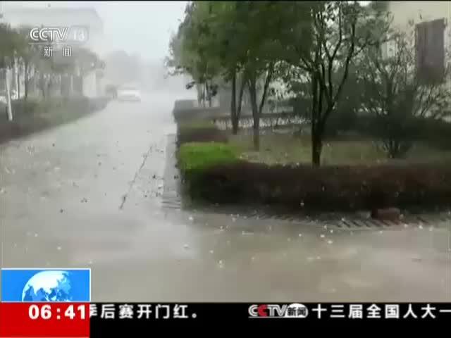 [视频]广西贺州:冰雹大如鸡蛋 车辆和屋顶遭殃