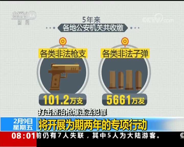 [视频]打击整治枪爆违法犯罪 将开展为期两年的专项行动