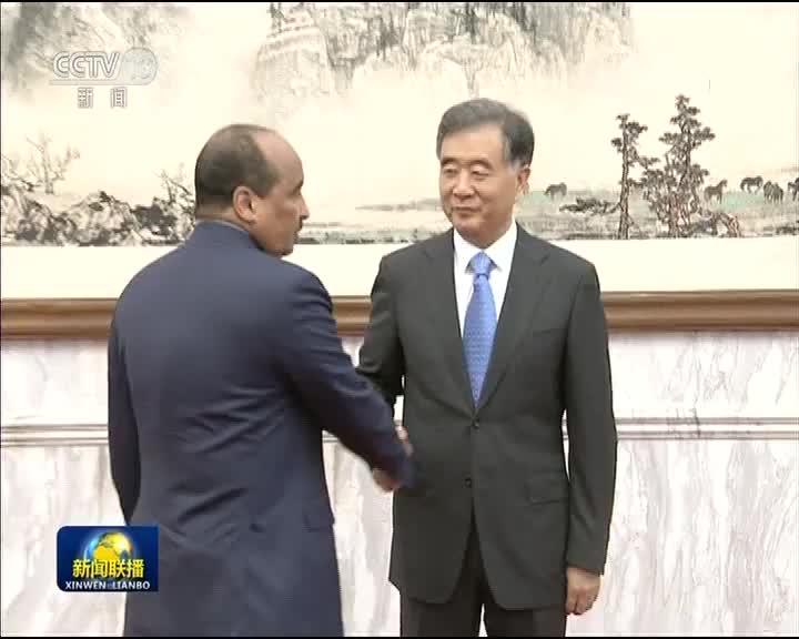 [视频]汪洋会见毛里塔尼亚总统