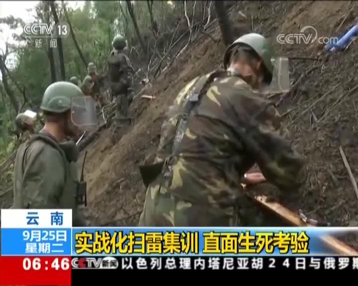 [视频]云南:实战化扫雷集训 直面生死考验