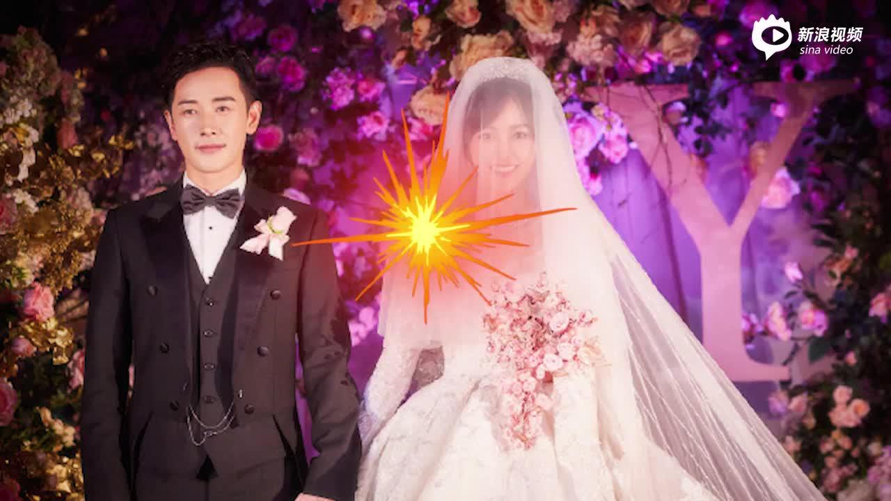 [视频]唐嫣罗晋婚礼现场曝光!鲜花墙前甜蜜亲吻超浪漫