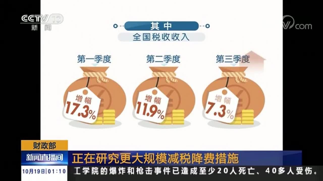 [视频]财政部:正在研究更大规模减税降费措施
