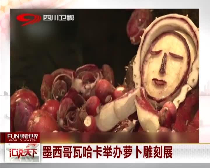 [视频]墨西哥瓦哈卡举办萝卜雕刻展