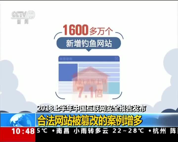 [视频]2018上半年中国互联网安全报告发布