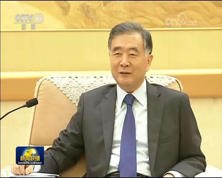 [视频]汪洋会见台湾民意代表交流参访团