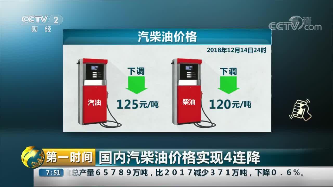[视频]国内汽柴油价格实现4连降
