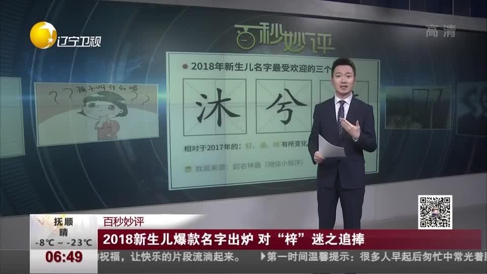 """[视频]2018新生儿爆款名字出炉 对""""梓""""迷之追捧-新华网"""