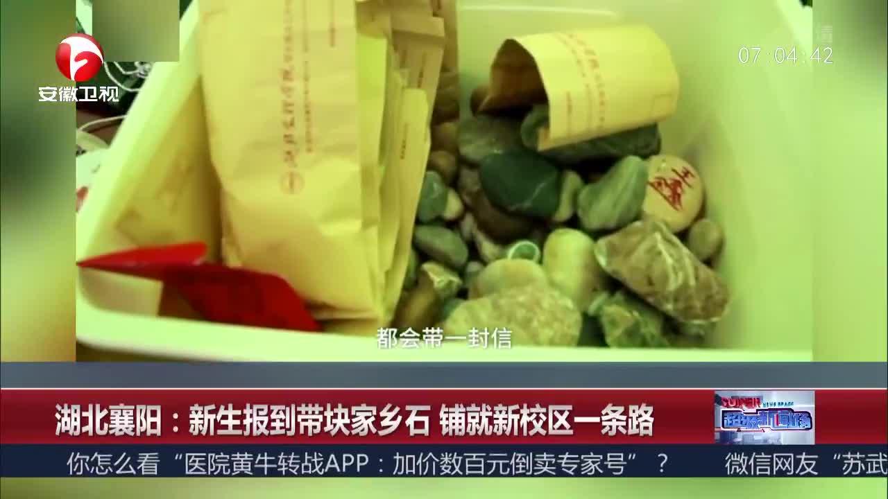 [视频]湖北襄阳:新生报到带块家乡石 铺就新校区一条路