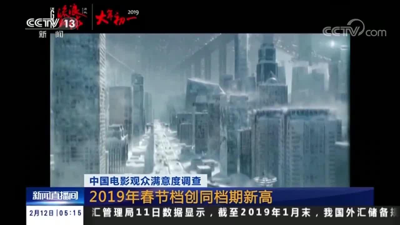 [视频]中国电影观众满意度调查 2019年春节档创同档期新高