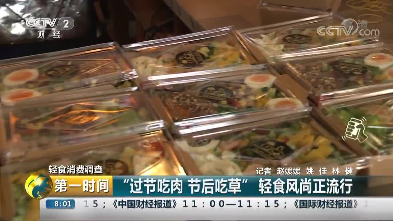 """[视频]轻食消费调查 """"过节吃肉 节后吃草"""" 轻食风尚正流行"""