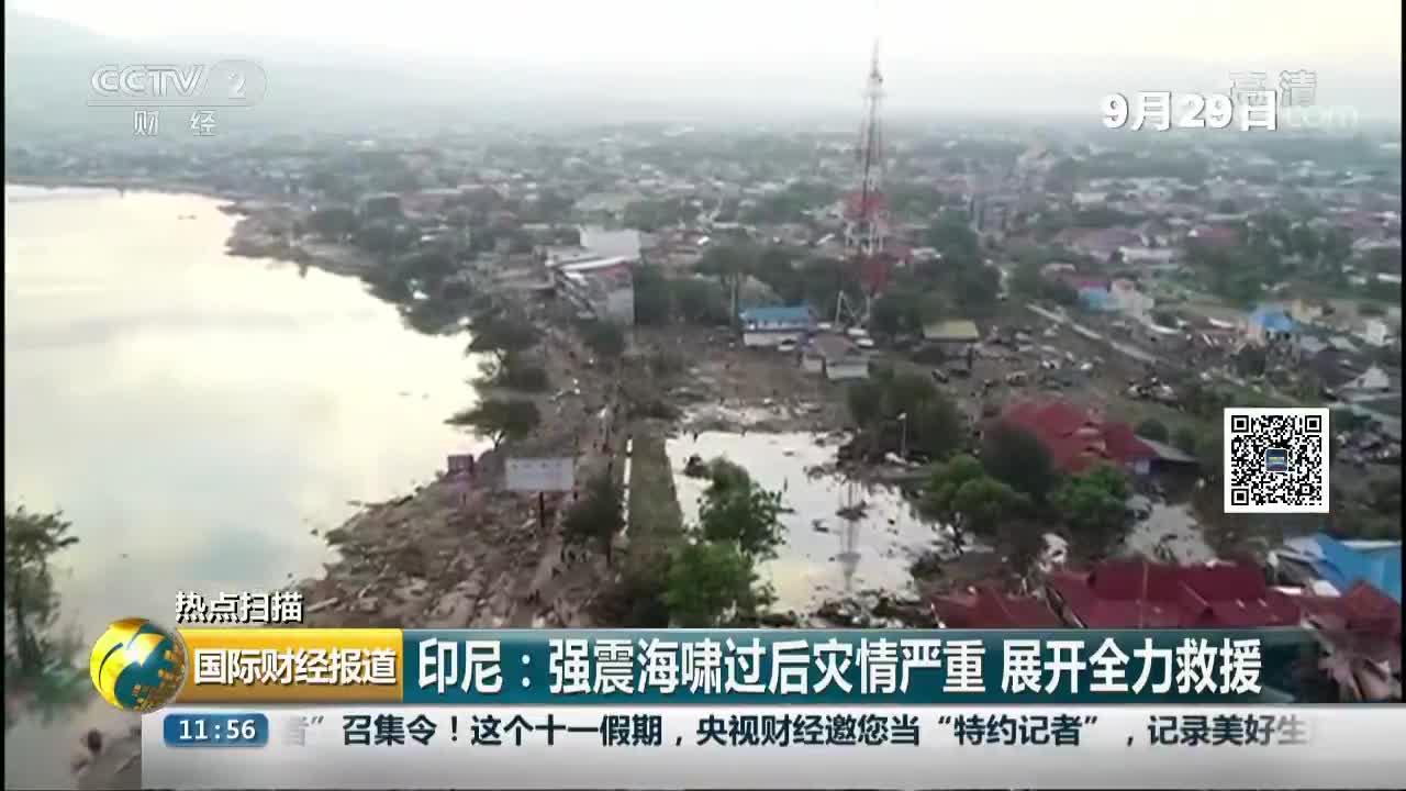 [视频]印尼强震海啸过后灾情严重 展开全力救援