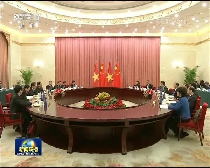 [视频]汪洋会见越南祖国阵线中央主席
