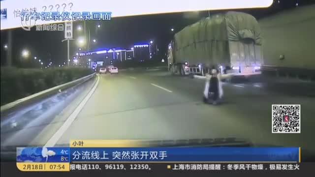 [视频]女子车流中下跪求