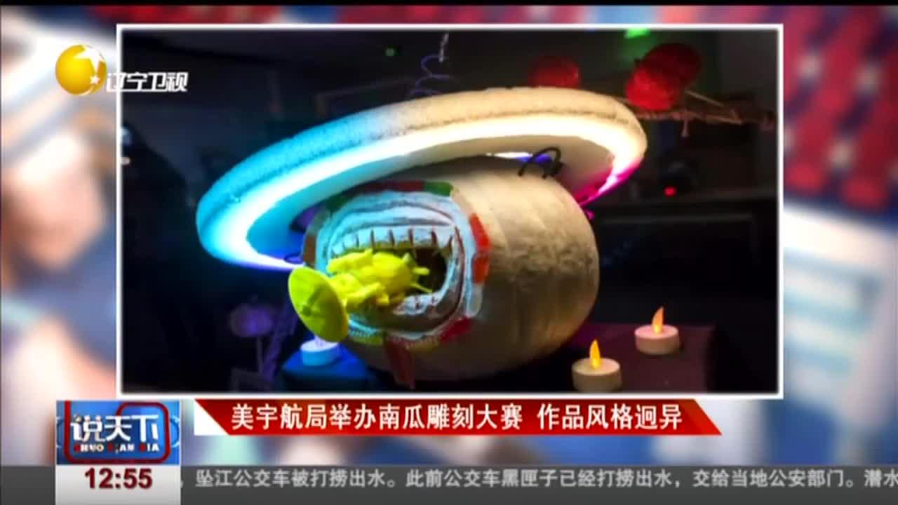 [视频]美宇航局举办南瓜雕刻大赛 作品风格迥异