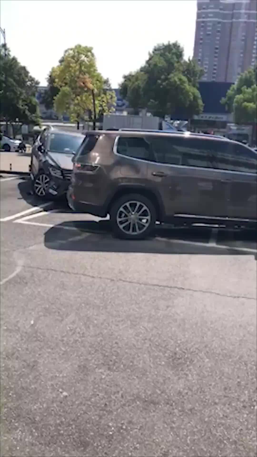 [视频]女子疑因上牌问题起纠纷 4S店门口疯撞七台车