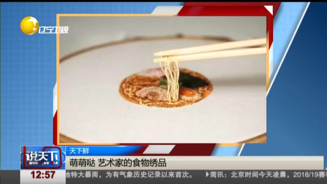 [视频]萌萌哒 艺术家的食物绣品