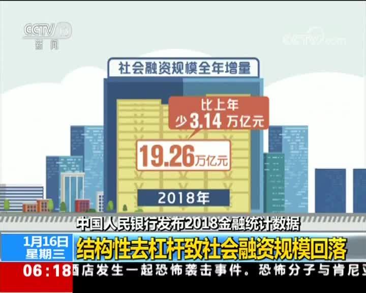[视频]中国人民银行发布2018金融统计数据 12月末广义货币M2同比增长8.1%