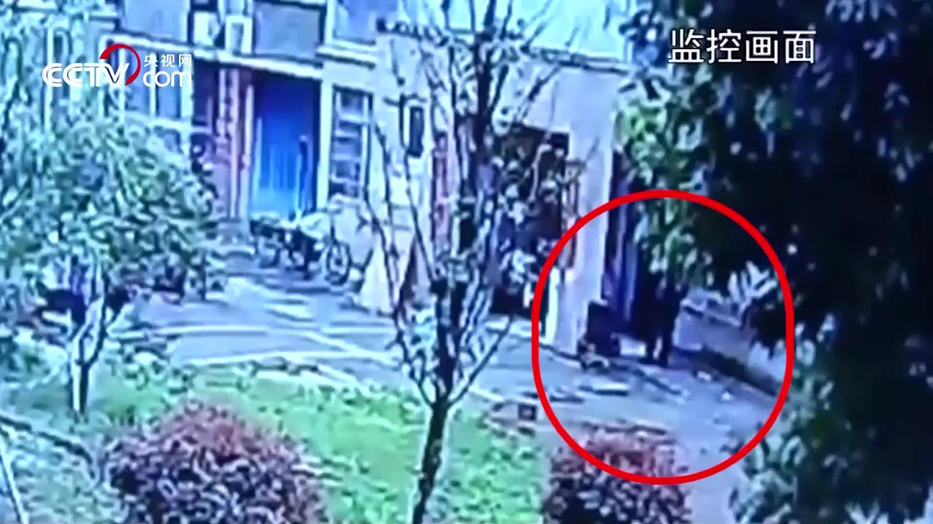 [视频]高空抛下共享单车砸中楼下老人 监控曝光恐怖瞬间