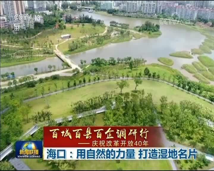 [视频]【百城百县百企调研行——庆祝改革开放40年】海口:用自然的力量 打造湿地名片