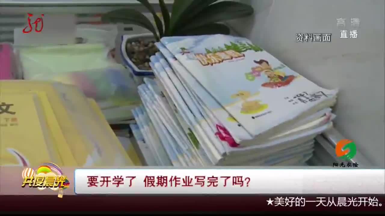 [视频]要开学了 假期作业写完了吗?