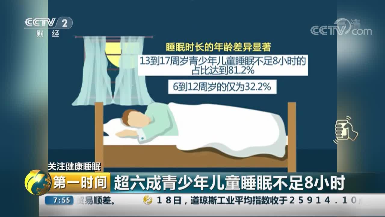 [视频]关注健康睡眠 超六成青少年儿童睡眠不足8小时