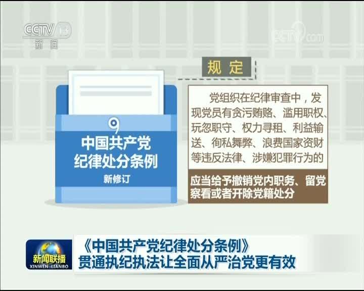 [视频]《中国共产党纪律处分条例》贯通执纪执法让全面从严治党更有效