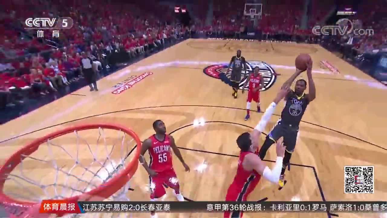 [视频]勇士客场大胜鹈鹕 抢先夺得赛点