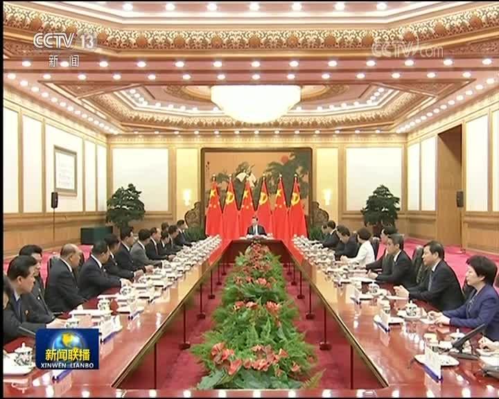 [视频]习近平会见朝鲜劳动党友好参观团