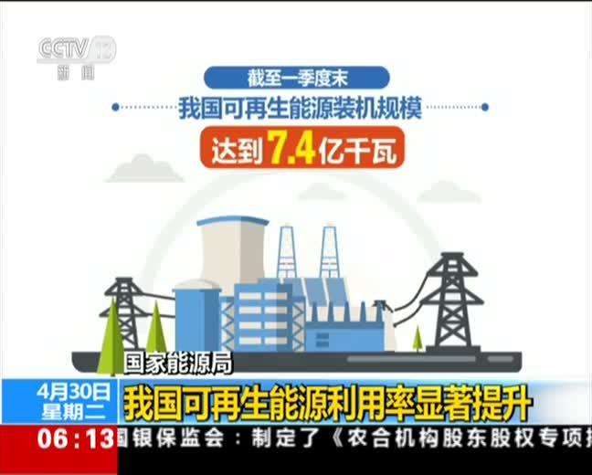 [视频]国家能源局:我国可再生能源利用率显著提升