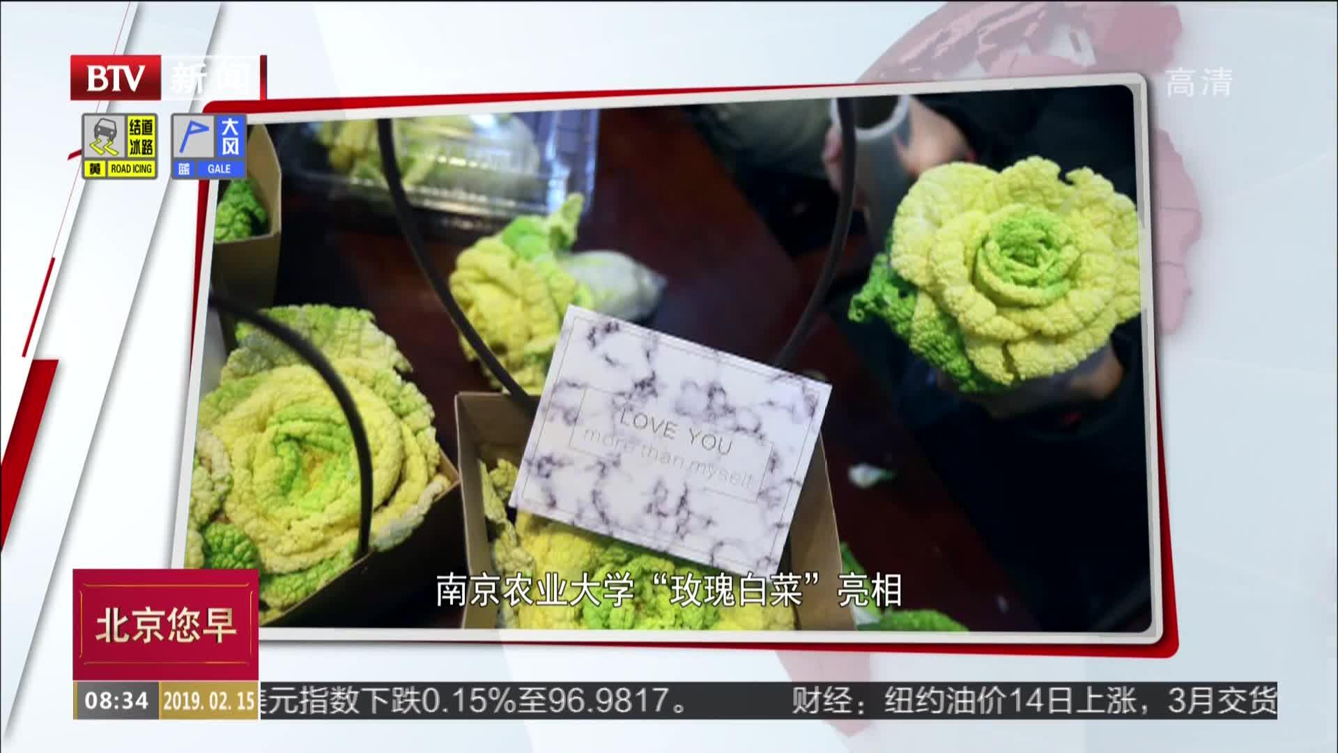 """[视频]南京农业大学""""玫瑰白菜""""亮相 好看还能吃"""