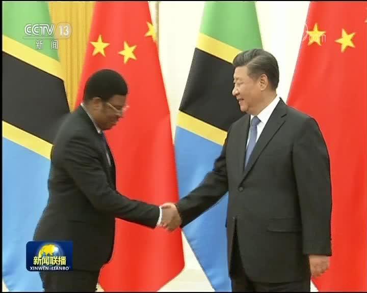 [视频]习近平会见坦桑尼亚总理