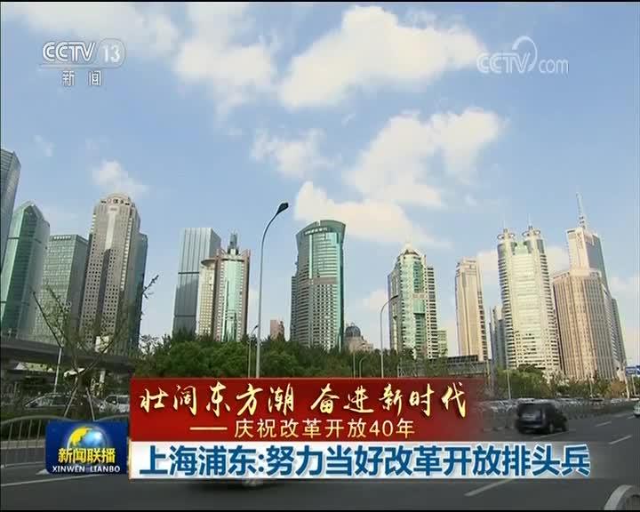 [视频]【壮阔东方潮 奋进新时代——庆祝改革开放40年】上海浦东:努力当好改革开放排头兵