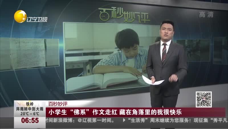 """[视频]小学生""""佛系""""作文走红 藏在角落里的我很快乐"""