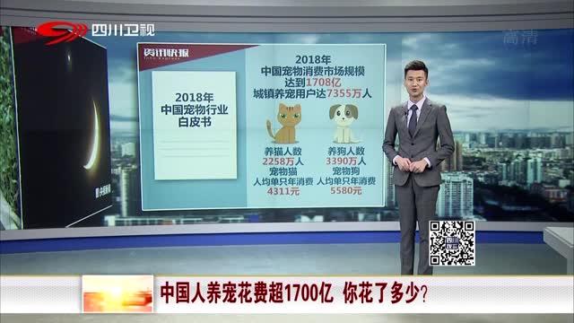 [视频]中国人养宠花费超1700亿 你花了多少?