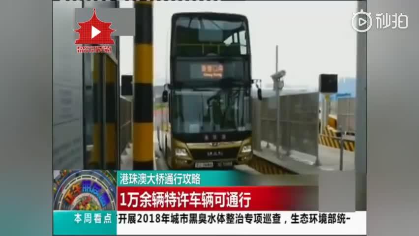 [视频]港珠澳大桥通行攻略 1万余辆特许车辆可通行