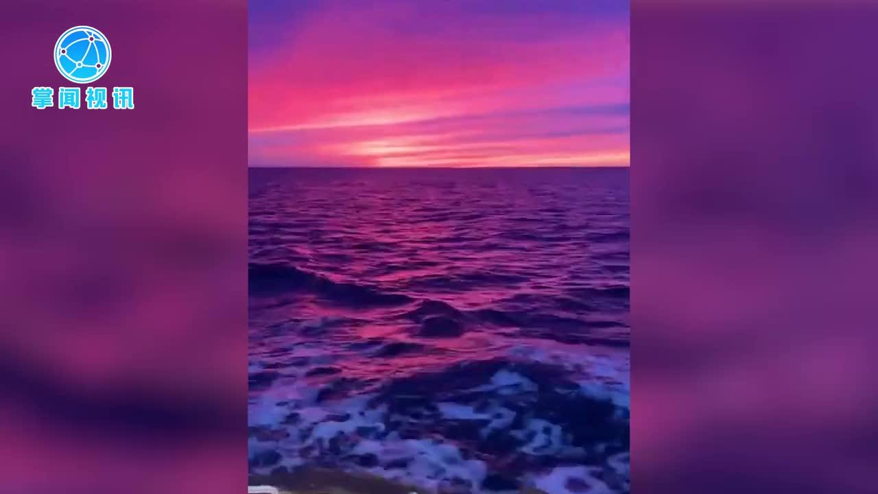 [视频]海岸唯美夕阳:似在梦境里遨游