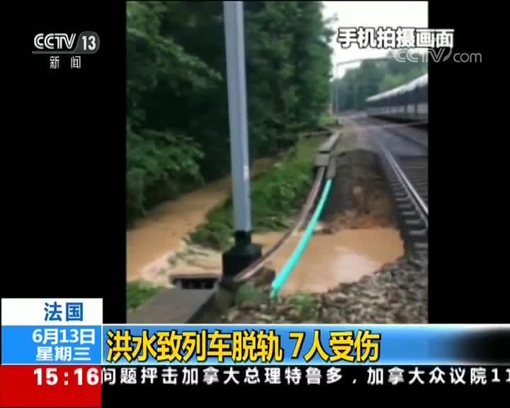 [视频]法国:洪水致列车脱轨 7人受伤