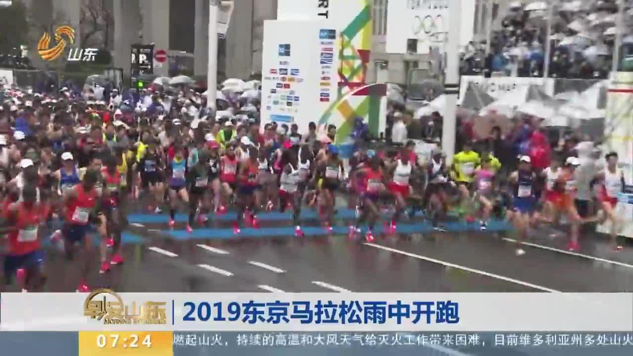 [视频]2019东京马拉松雨中开跑