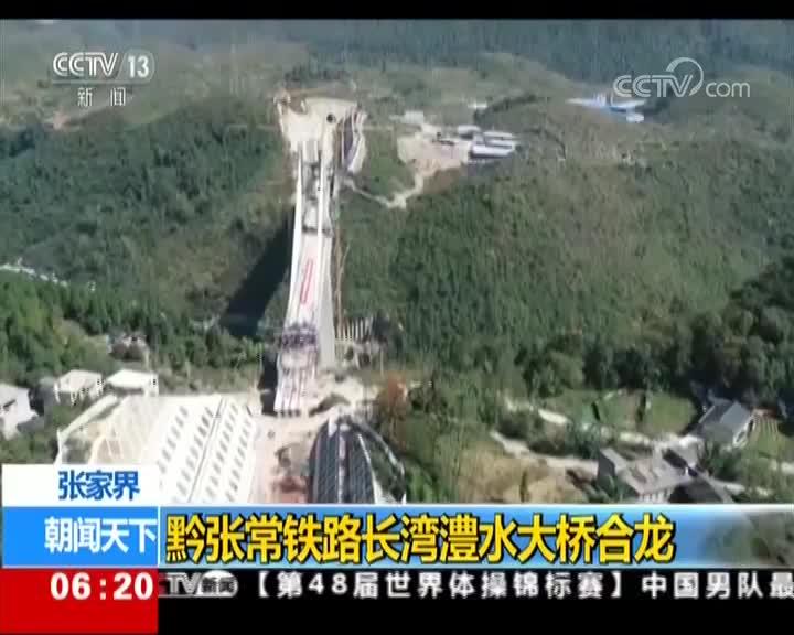 [视频]张家界:黔张常铁路长湾澧水大桥合龙