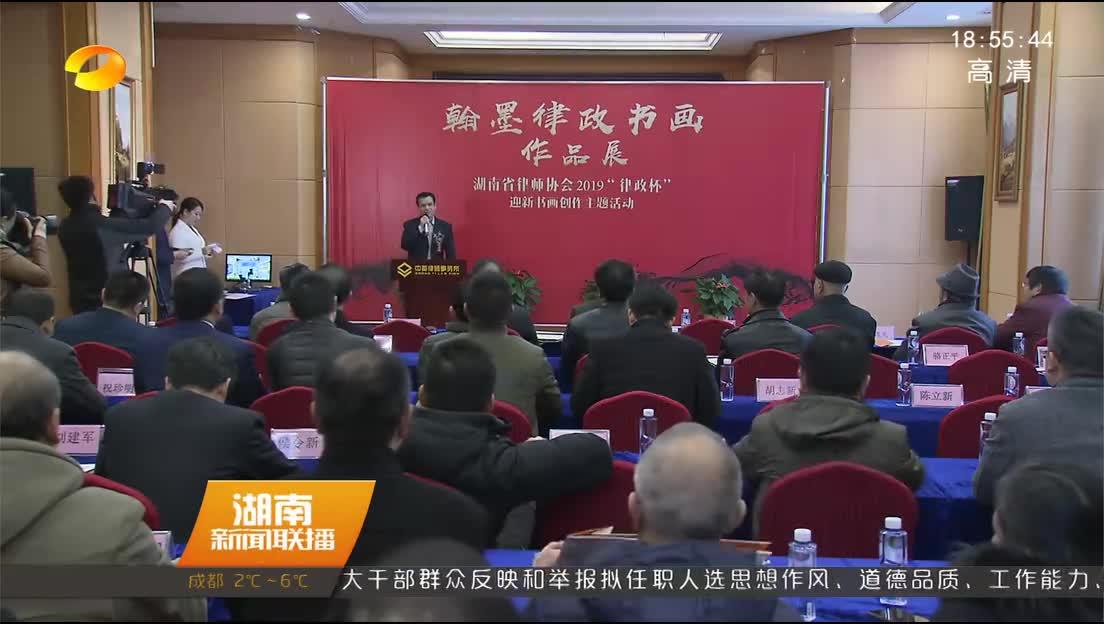 湖南省律师协会举行迎春书画作品展