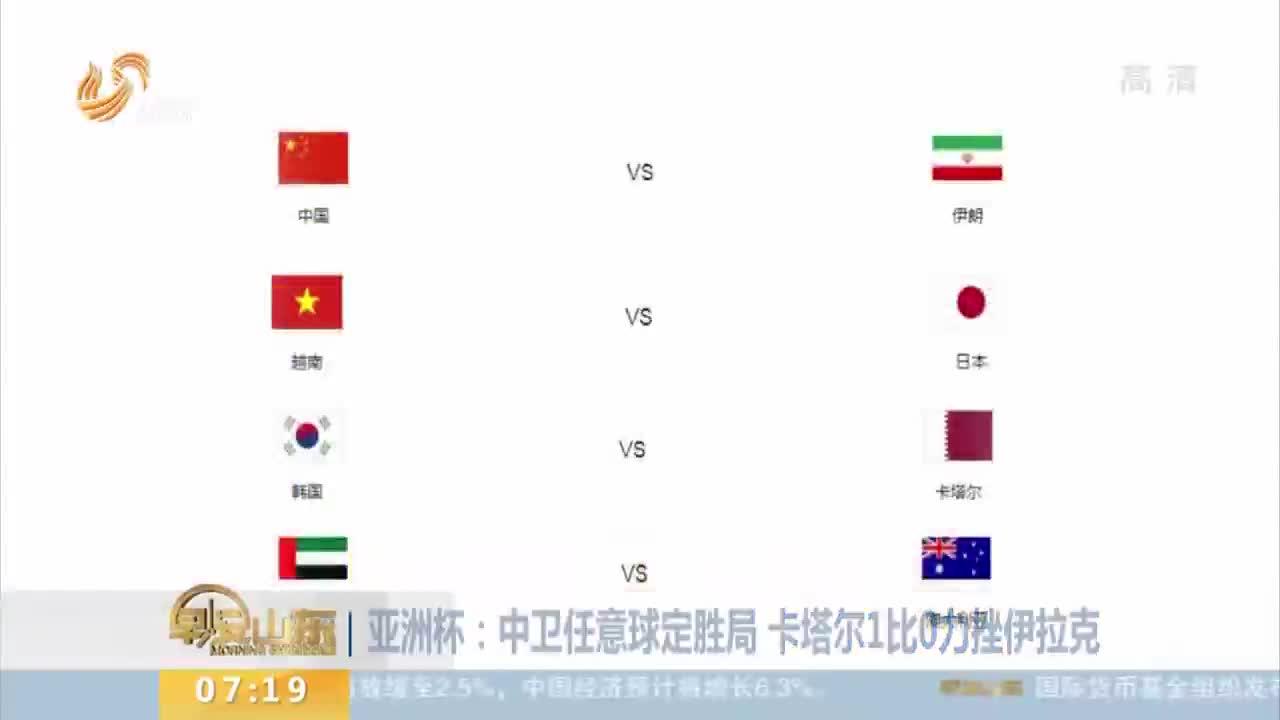 [视频]亚洲杯:8强球队全部产生 国足对阵伊朗