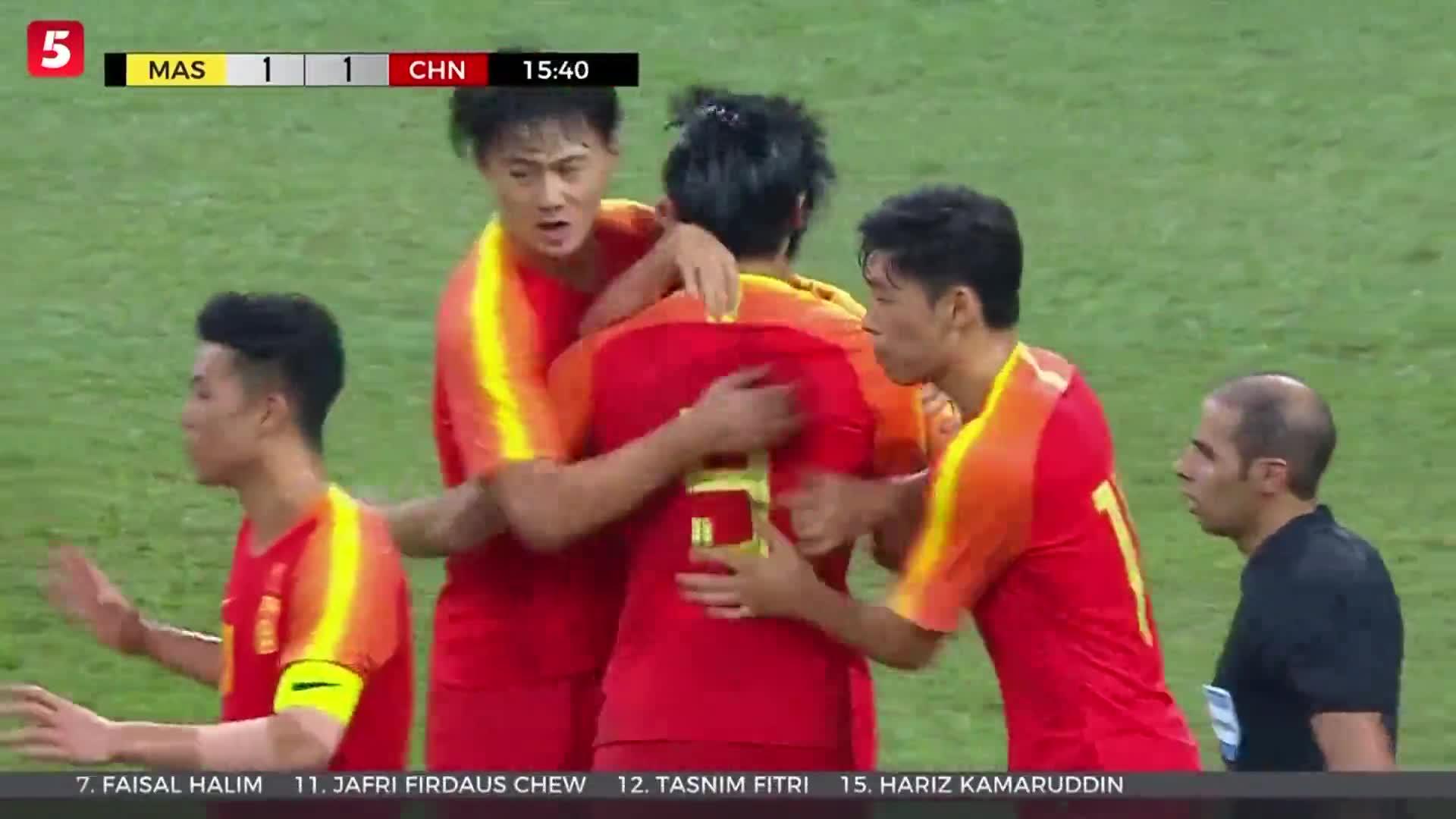[视频]头名出线!中国国奥2-2马来西亚晋级U23亚洲杯正赛