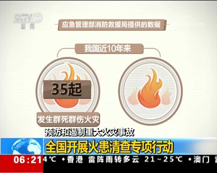 [视频]预防和遏制重大火灾事故 全国开展火患清查专项行动