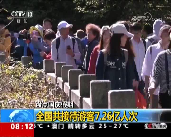 [视频]盘点国庆假期:全国共接待游客7.26亿人次