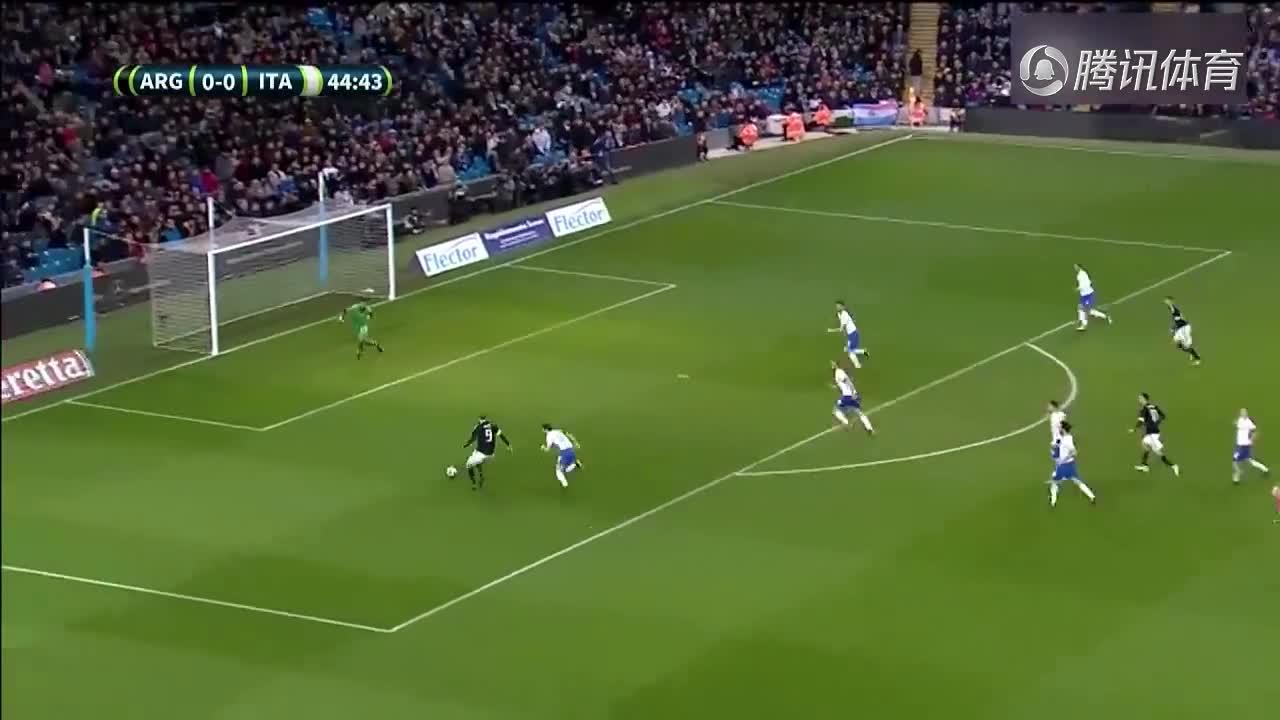 [视频]热身赛:阿根廷2-0意大利 伊瓜因助攻巴内加破门