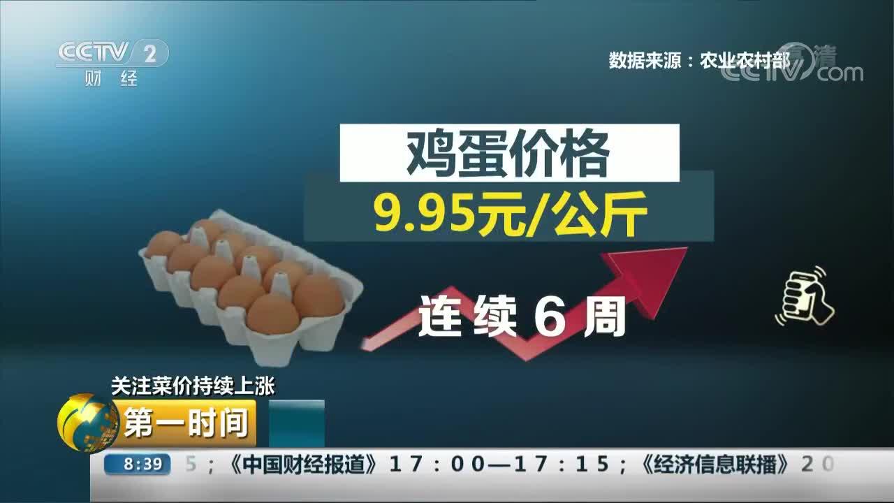 [视频]关注菜价持续上涨:菜肉蛋价格齐涨 CPI承压